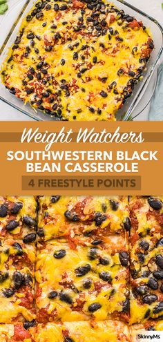 Recipes Snacks Clean Eating Our Southwestern Black Bean Casserole is a healthy way to enjoy Mexican food. Still flavorful, but with fewer calories, less saturated fat, and no unhealthy ingredients. Lunch Recipes, Gourmet Recipes, Mexican Food Recipes, Vegetarian Recipes, Cooking Recipes, Healthy Recipes, Healthy Mexican Food, Healthy Black Bean Recipes, Healthy Foods