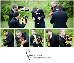 Wedding Photography - Nerf Guns