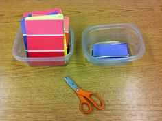Another cheap work box task. Love FREE  educational tasks. :)