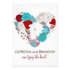 Blaue und rote Blumen die ein Herz formen. Perfekt für eine romantische und  glückliche Hochzeit!  zazzle  Hochzeit  Hochzeitseinladungen 761afd151168d