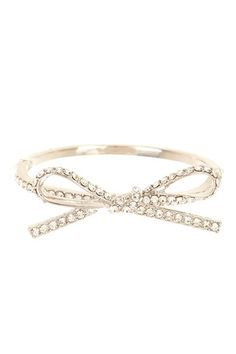 I'd love for this to be an anklet, but it is sweet as is - Crystal Bow Bangle Bracelet by t+j Designs on @HauteLook