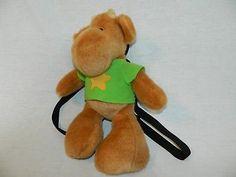 """Elliot Moose plush Backpack 17"""" stuffed VTG 90's TV Show Green Shirt Andrea Beck"""