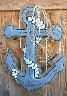 Anchor Burlap Door Hanger