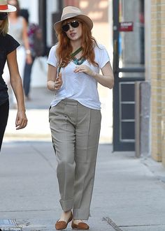 Chilled and chic: Jessica Chastain showed off her casual stylish side in Soho, New York, o...