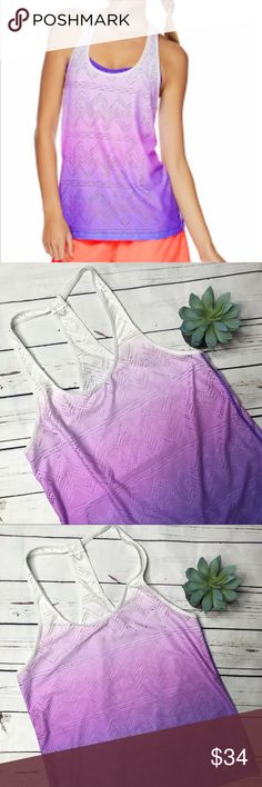"""{Lorna Jane} purple ombré sunset excel tank Lorna Jane active purple sunset ombré excel tank in excellent condition! No flaws! The size tag has been cut out, but I believe it measures like a large, please see measurements for your own opinion!   Measurements approximate:  Bust: 17 1/2"""" Shoulder to hem: 26 1/2""""  Offers always welcome in my closet! Lorna Jane Tops Tank Tops"""