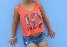 One Direction Shirt 1D Logo Crop Tank --- Tribal Flag Galaxy Floral Print. $18.00, via Etsy.