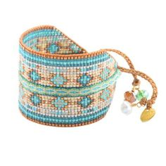 Woman Pearl TurquoiseCollage - mishky Bracelet