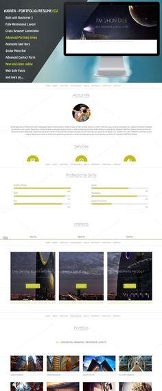 Axiata - Responsive Portfolio/Resume. Bootstrap Themes. $4.00