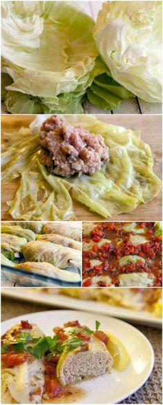 Skinny Cabbage Rolls with Quinoa. via Ellesilk.com #recipe
