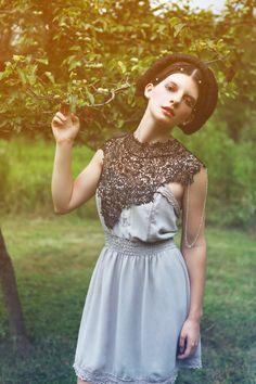 Steampunk lace collar black bib collar par AmorousCatsAttic sur Etsy, $69,00