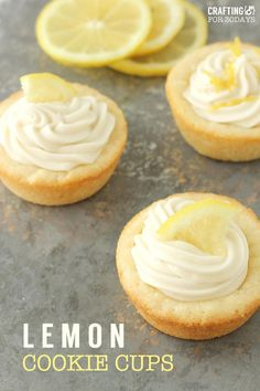 Perfect for spring, this Lemon Cookie Recipe hits the spot! And bonus – you can… Perfect for spring, this Lemon Cookie Recipe hits the spot! And bonus – you can use it for all different types of flavors. Mini Desserts, Brownie Desserts, Spring Desserts, Lemon Desserts, Lemon Recipes, Just Desserts, Baking Recipes, Cookie Recipes, Trifle Desserts
