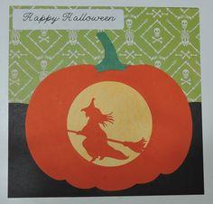 Halloween Card, Silhouette Cameo, Carved Pumpkin