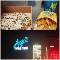 Amy's has a restaurant? With a drive-thru?! Be still, my beating heart!
