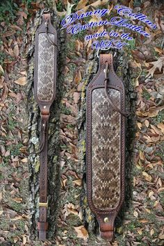 Looking to dress up that old lever action? Check out this rattlesnake rifle sling and other quality American made leather goods in my shop or website. Sewing Leather, Leather Pattern, Gun Holster, Holsters, Leather Rifle Sling, Business Card Case, Leather Bifold Wallet, Custom Leather, Leather Working