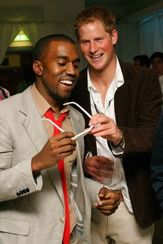 HARRY CAN EVEN MAKE KANYE BREAK A SMILE.    - TownandCountryMag.com