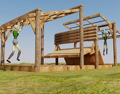 """Check out new work on my @Behance portfolio: """"Log Combo Obstacle """"Flying Buttress"""""""" http://be.net/gallery/31477095/Log-Combo-Obstacle-Flying-Buttress"""