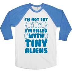 I'm not fat, I'm filled with tiny aliens, called adipose. Rock this nerdy doctor who shirt and explain the truth behind your body shape. I'm Filled with Tiny Aliens