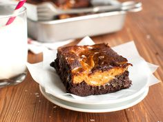 These rich, super fudgy brownies are topped with generous dollops of homemade dulce de leche and a generous sprinkle of sea salt. The thick layer of dulce de leche has the same fudgy texture as the brownie underneath, and the salt wakes the whole thing up. Consider yourself warned, because you're gonna want to make these every day.