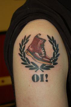 10 Trojan Skinhead Tattoos Doc Marten Tattoo By Yayzus Skinhead Boots, Skinhead Girl, Skinhead Fashion, Skinhead Style, Skinhead Reggae, Punk Tattoo, Arm Tattoo, Girl Tattoos, Sleeve Tattoos