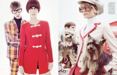 "Giovanna Battaglia — ""All Tomorrow's Parties"" W Magazine March 2013 Photographed by Tom Munro. Work by Giovanna Battaglia."