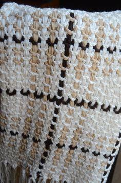 Crochet woven blanket. $95.00, via Etsy.