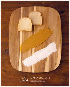 Cool project. Deconstructed sandwiches from every state in the US (eventually). Mass features the Fluffernutter, starring Fluff, Lynn's favorite son.