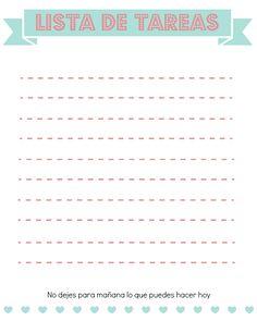 Lista de Tareas Pendientes Imprimible