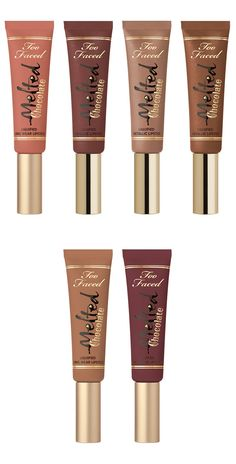 Too Faced Spring 2016 Brings Chocolate-y Makeup Goodies-Too Faced Spring 2016 arrives today with the brand new Chocolate Bon Bons Eye… Pretty Makeup, Love Makeup, Makeup Inspo, Makeup Inspiration, Makeup Geek, Metallic Lipstick, Liquid Lipstick, Mac Lipsticks, Lipstick Swatches