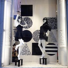 A funky black & white window display in one of our @americanapparelNYC stores.  #AmericanApparel #AANY #AAwindows #AAmerchandising