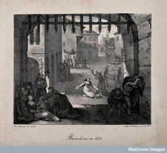 Nicolas-Eustache Maurin - La epidemia de fiebre amarilla de Barcelona en 1821 (S. XIX)