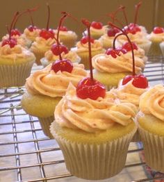shirley temple cupcakes