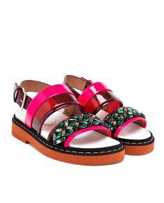 MARNI Gem Embellished Sandals
