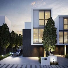 The Best House Architecture Ideas for Stay in Melbourne Townhouse Exterior, Modern Townhouse, Townhouse Designs, Facade Design, Exterior Design, Villa, Architecture Details, Modern Architecture, Habitat Groupé