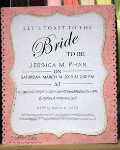 bridal shower invitation stampin up - Google Search