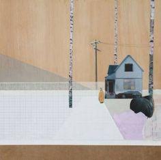 "Saatchi Art Artist Mairi Timoney; Collage, ""Drift"" Collage: paint and paper."