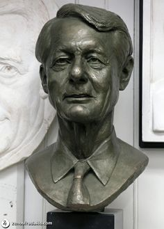 """Edmund N. Bacon"" portrait bust by sculptor Zenos Frudakis. Recognized as a significant city planner of the 20th century, Ed Bacon is also a noted architect, educator and author. During Bacon's tenure as Executive Director of the Philadelphia City Planning Commission, from 1949 to 1970, his design concepts shaped the city to such an extent that he is sometimes described as ""The Father of Modern Philadelphia."""