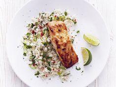 Miso salmon cauliflower rice - clean and lean dinners - womens health uk