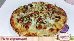 Pizza vegetariana -  Hoy os presentamos una comida riquísima y además perfecta para aquellos que sois más vegetarianos que carnívoros. Se trata de una pizza vegetariana, o mejor dicho, casi vegetariana. La mayoría de ingredientes son verduras pero hay un par de ellos que no lo son. Si sois vegetarianos al 101% sólo ... - http://www.lasrecetascocina.com/pizza-vegetariana/