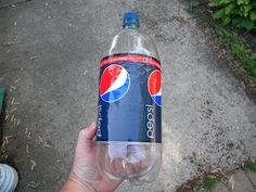 Empty 2-liter Soda Bottle - step by step on how to use this to water plants