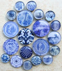 Delft Tile Blue and White China Vintage Blue by AKAdecorativeart