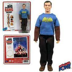 "The Big Bang Theory 8"" Sheldon Cooper Batman T-Shirt Action Figure"