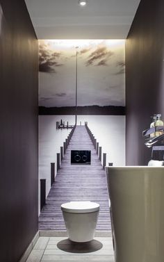 Really like this as a downstairs guest toilet - downstairs gästetoilette gue .Really like this as a downstairs guest toilet - downstairs gästetoilette guest toiletNow find your dream bathroom. Valuable tips from planning Small Toilet Room, Guest Toilet, Toilet Wall, Tiny Bathrooms, Small Bathroom, Bathroom Ideas, Wooden Bathroom, Bathroom Mirrors, Bathroom Cabinets