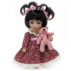 Precious Moments Doll with Pink Teddy Bear