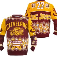 a27e16874 Cleveland Cavaliers Lebron James Official NBA Ugly Sweater - Celebrate your Cleveland  Cavaliers fandom in a