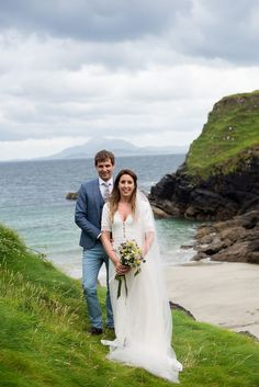 Aine & Stephen's Irish Beach Wedding 💕 This gorgeous wedding on Clare Island proves that you don't have to travel abroad to have a beach wedding. | Featured at @onefabday | Photographer: @andrewkilfeather