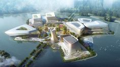 10 DESIGN has won the international design competitions for three separate projects in the Jinwan Aviation City of Zhuhai, where aviation is under a period. Futurism Architecture, Form Architecture, Architecture Concept Drawings, Commercial Architecture, Urban Design Plan, Commercial Complex, High Rise Building, Design Competitions, Cultural Center