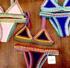 KIINI - neoprene triangles surrounded by crotchet elastic (maybe a DIY?)