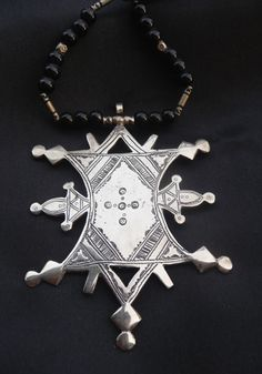 Africa | Large Tuareg Cross necklace from a silversmith from Mali | 59$ ~ Sold