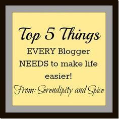 Blog tips- 5 things every blogger needs