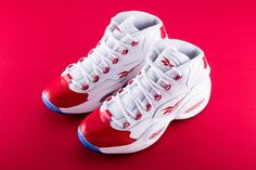 """Reebok Is Re-Releasing Allen Iverson s Iconic Question Mid OG """"Red Toe"""" 076067f06"""